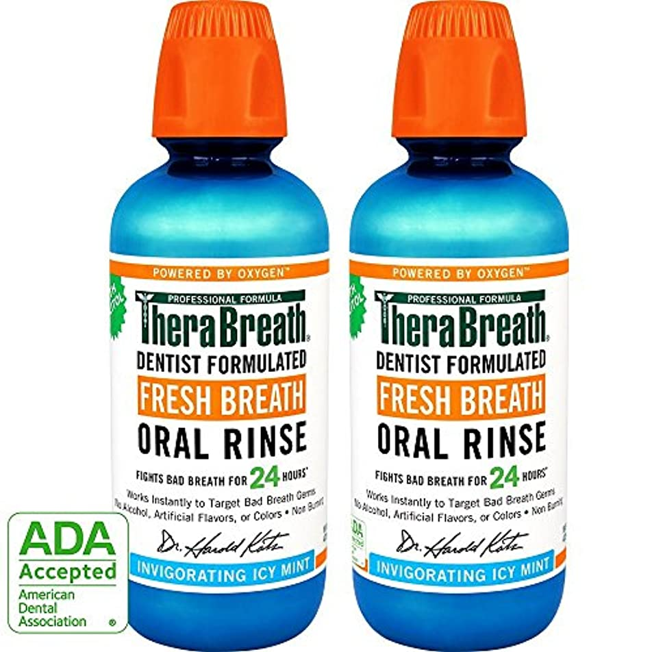 子供っぽい存在省略Thera Breath ORAL RINSEミントフレーバー 473ml 2本[並行輸入品]