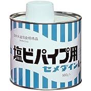 セメダイン ドープセメントタイプ 接着剤 塩ビパイプ用 缶 500g AR-067