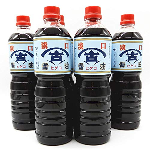 古村醤油 福井の老舗 古村醤油 ヒゲコ醤油の淡口(うす口) 1リットル 6本