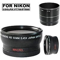58mmデジタルビジョン広角レンズfor Nikon Coolpix p7700p7800