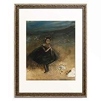エドガー・ドガ Edgar Degas 「Dancer with a Bouquet (La Danseuse au Bouquet).」 額装アート作品