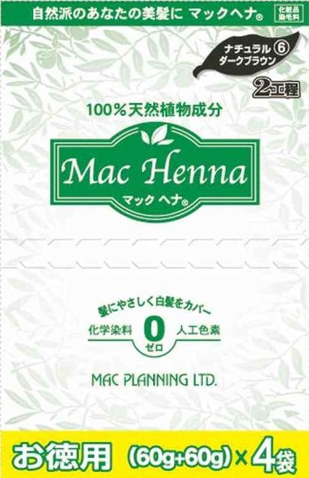 一口確実誕生日マックヘナ ナチュラルダークブラウン  お徳用 ヘナ60g×4?インディゴ60g×4