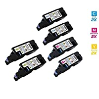 AZ Supplies ©互換交換用トナーカートリッジfor Dell 1250高降伏4色セットブラック、シアン、マゼンタ、イエロー) for Dell 1250での使用、1250C、1350CNW、1355cn、1355cnw、c1760nw c1765nf c1765nfwプリンタシリーズ; black-2000、color-1400ページYield。