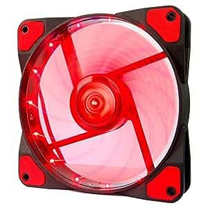 アイネックス LED搭載 ケース用ファン120mm レッド SC-120-R