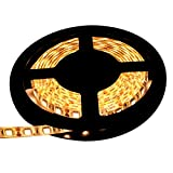 【テープ単体】 12V 両端子 5M 3チップ 防水LEDテープライト LEDイルミネーション (電球色/白ベース)
