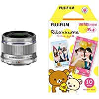 OLYMPUS 単焦点レンズ M.ZUIKO DIGITAL 25mm F1.8 SLV & FUJIFILM インスタントカメラ チェキ用フィルム 10枚入 絵柄 (リラックマ) INSTAX MINI RILAKKUMA WW1