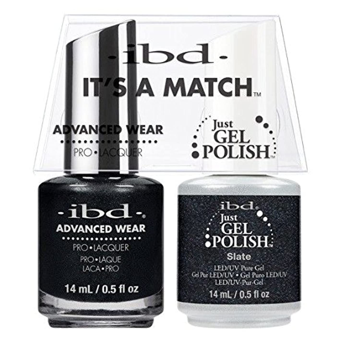 時々簡単な報奨金ibd - It's A Match -Duo Pack- Slate - 14 mL / 0.5 oz Each