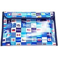 整理整頓スマート連絡袋 B5サイズ 国旗で旅する世界旅行(スカイブルー)  N4023400 連絡帳