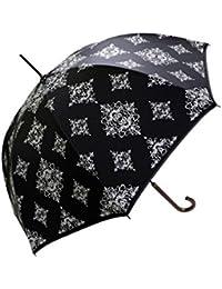 晴雨兼用 ダマスク柄 ジャンプ傘 遮光率99.9%
