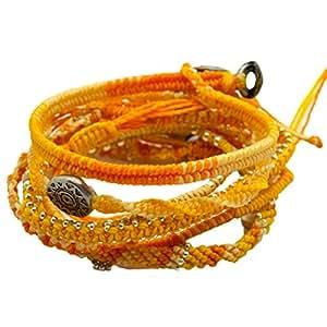 (ワカミ) wakami 7strands Bracelet ブレスレット アトモスフィアイエロー WA-BC18005