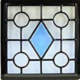 ステンドガラス窓ドア壁材料三層デザインパネルハンドメイド手作り高級ステンドグラスsgsq216