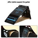 ギターサポート ギタースタンド 折り畳み可 携帯便利 フォークやクラシックギター用 プラスチック&PUレザー