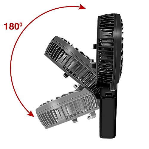 USB 扇風機 LinGear ミニ扇風機 小型 ファン 手持ち 熱中症対策 折り畳み式 卓上  3モード 風力調整可 黒