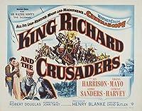 キャンバスに映画ポスタージクレープリント - 映画ポスター複製壁の装飾(リチャード王と十字軍2) #XFB