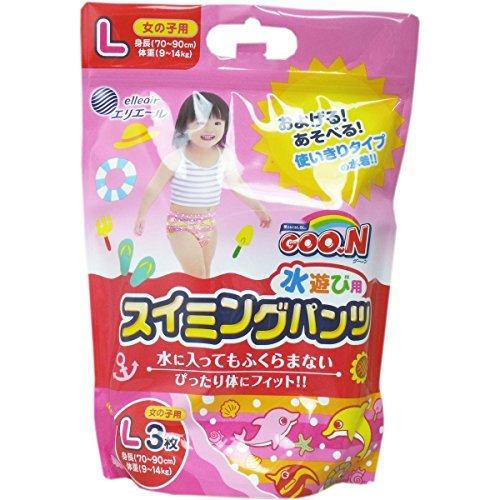 グーン 水遊び用スイミングパンツ  女の子用 Lサイズ 3枚...