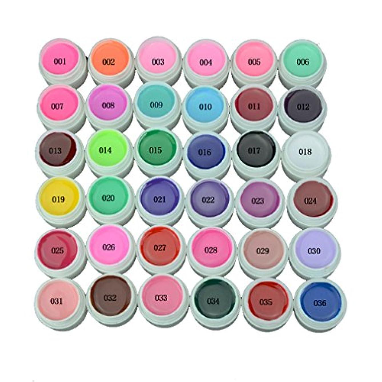 同一の怒り目の前の【全36色】 UVジェル カラージェルセット 36色 8ml (セット7)