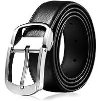 """Vbiger Leather Reversible Belt Dress Belt Jeans Belt for Men 1 1/2"""" (38mm) Wide"""