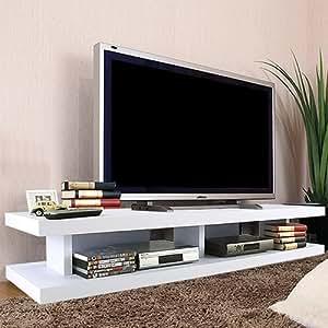 テレビ台 ワイド ロータイプ テレビボード TV台 AVラック オープンラック 収納 〔幅150cm〕 ホワイト