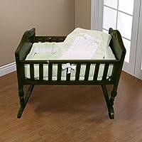 Baby Doll Bedding Royal Pique Cradle Bedding Set, Sage by BabyDoll Bedding
