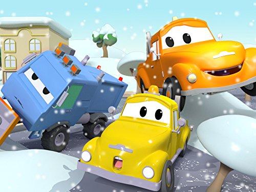 解体クレーンのデーンがセメントにハマる!/ 除雪機のサムが倒れちゃった!