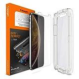 【Spigen】 iPhone XR ガラスフィルム 【貼り付けキット付き】 6.1インチ 用 薄さ0.4mm 強化ガラス 液晶保護フィルム 高透過率 液晶パネル 保護 Haptic Touch Face ID 対応 064GL24818 (Glas.tR EZ Fit (1枚入))