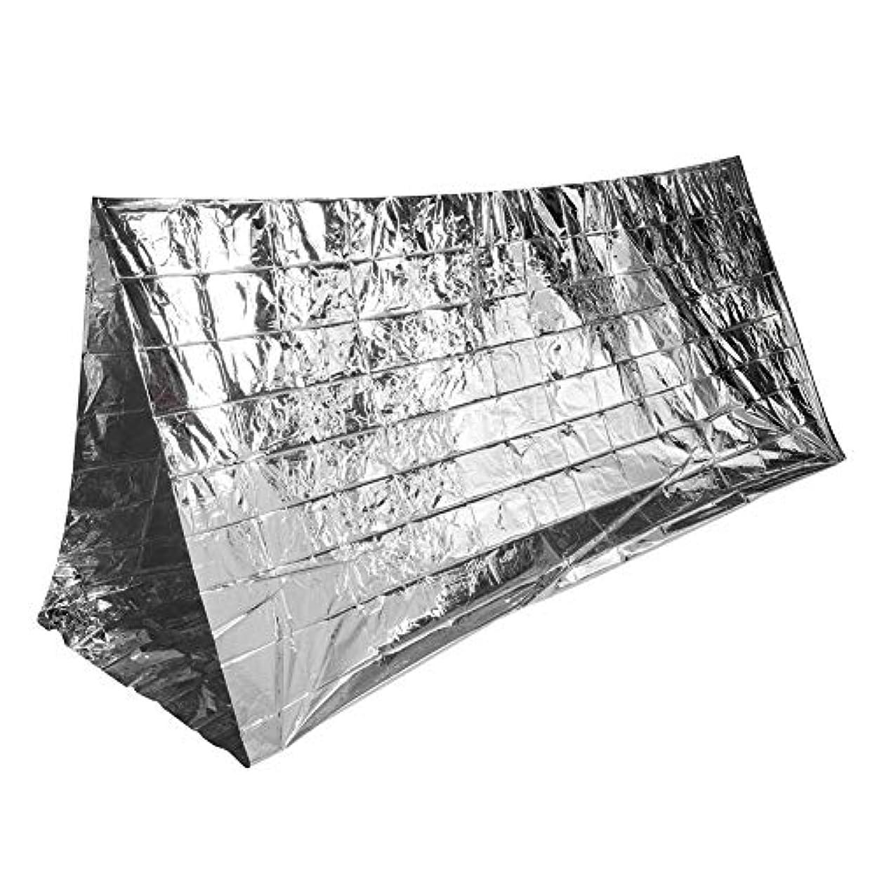 インタフェース雇う過度にエマージェンシーテント 軽量 防水防風 簡易テント サバイバルレスキュー アウトドアテント キャンプ 防災 緊急用 防寒保温