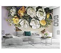 Mingld リビングルームの寝室のソファーテレビの背景のカスタム蝶ヴィンテージ油絵壁画-150X120Cm