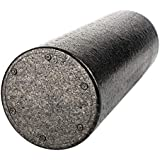 Round Foam Roller by Tiiyar – Eco-Friendly EPP Odourless Non-Slippy Foam Massage 30cm,45cm,60cm,90cm, E-Book Exercise Guide, Black (2 Year Warranty)