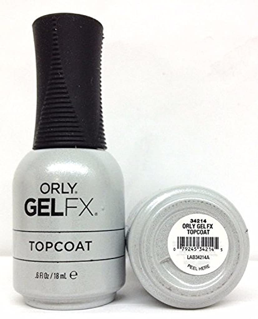 花弁ラケット確実Orly Gel FX - Top Coat - 0.6 oz / 18 mL