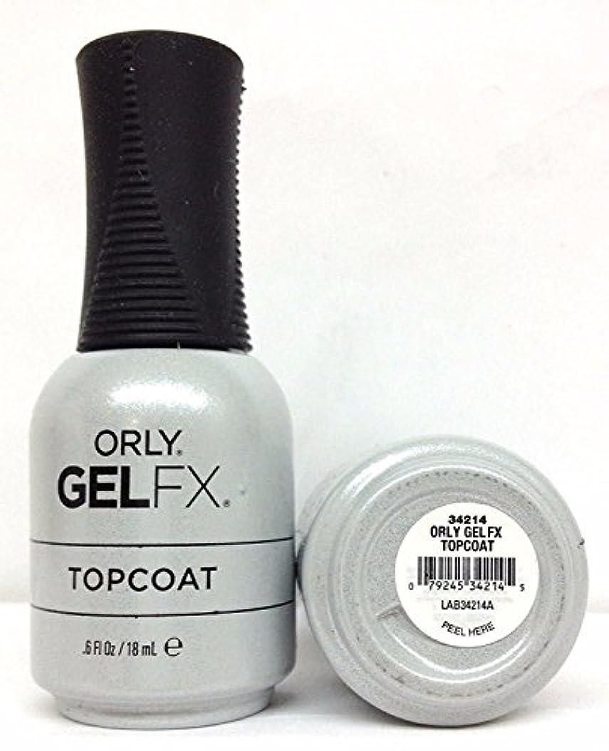 ジャベスウィルソン脅威南アメリカOrly Gel FX - Top Coat - 0.6 oz / 18 mL