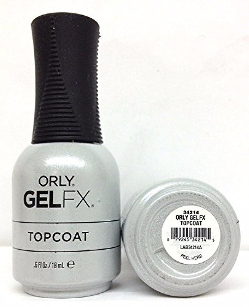 脊椎ソーセージアトラスOrly Gel FX - Top Coat - 0.6 oz / 18 mL