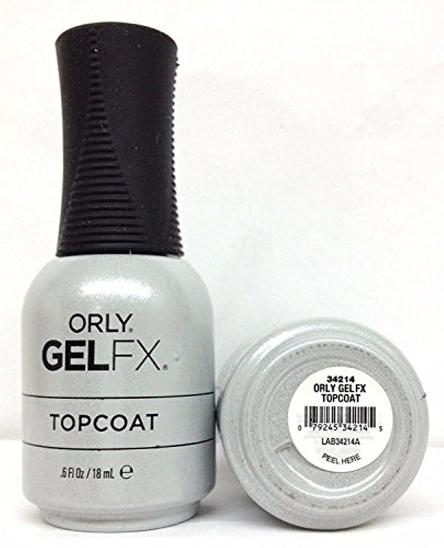 カラス敵意無臭Orly Gel FX - Top Coat - 0.6 oz / 18 mL