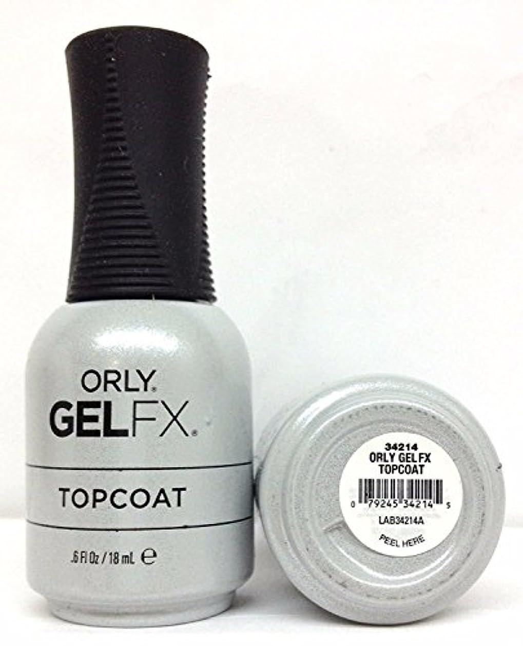 二週間アノイ適度なOrly Gel FX - Top Coat - 0.6 oz / 18 mL