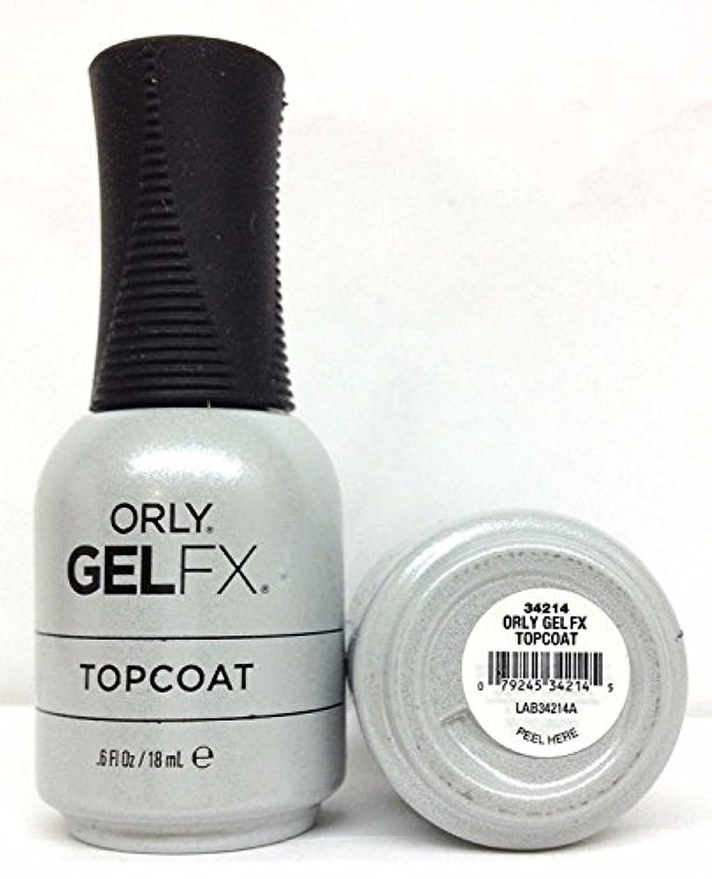 かみそりユーザー好意Orly Gel FX - Top Coat - 0.6 oz / 18 mL