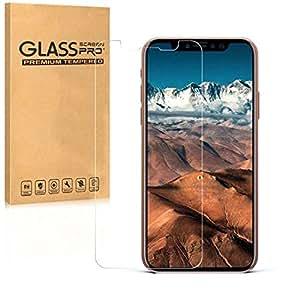 Saniki iPhone X 強化ガラスフィルム、 Apple iPhone X 用 【日本製素材旭硝子 / 0.26mm / 0.25D / 硬度9H / 気泡防止 】 iPhoneX/iPhone 10,(強化ガラスフィルム)