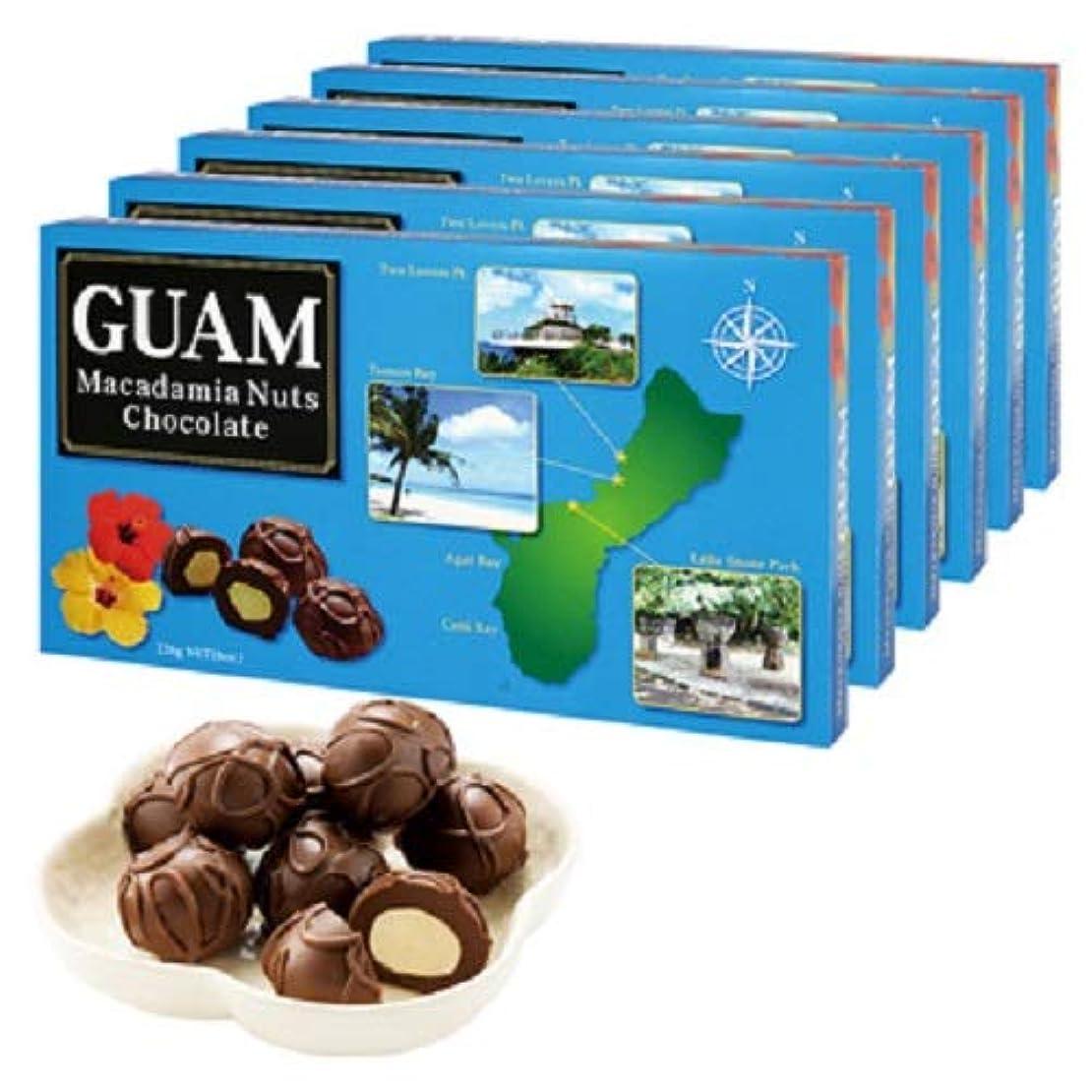 敬な出血戻すグアム マカデミアナッツチョコレート6箱セット【グァム 海外土産 輸入食品 スイーツ】