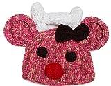 【Momo´s fashion shop for baby】 ベビー 用 ニット帽 赤ちゃん 新生児 クリスマス お宮参り 初詣 お正月 (となかい ピンク, フリー)
