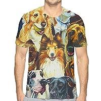 色々な犬夏 Tシャツ 半袖 メンズ 丸首 今季最新 量軽 爽快 3Dプリント 薄手 吸汗速乾 ファッション おしゃれ
