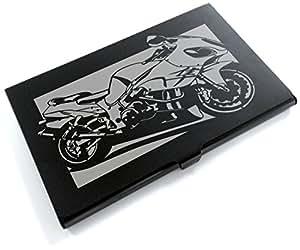 ブラックアルマイト「スズキ(SUZUKI) ハヤブサ GSX-1300R 」切り絵デザインのカードケース[BC-011]
