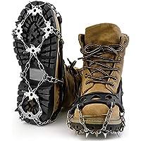 OUTAD 18本爪 アイゼン 簡単装着 収納袋付き S/M/L/XL四サイズ 雪山 登山 トレッキング