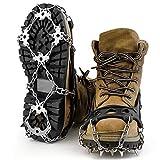 OUTAD 18本爪 アイゼン スノースパイク 簡単装着 収納袋付き S/M/L/XL四サイズ 雪山 登山 トレッキング