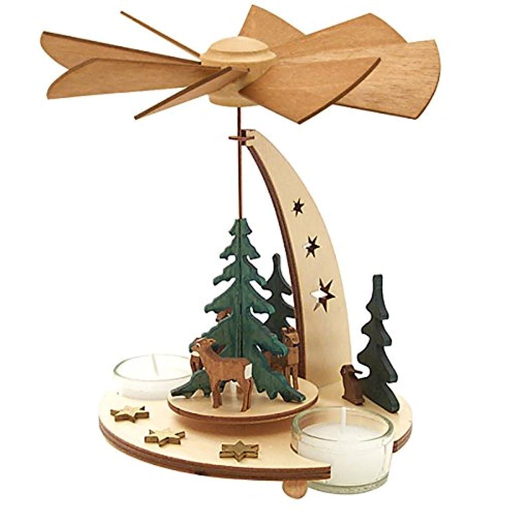 反対すきこっそりクーネルト クリスマスピラミッド 森の動物