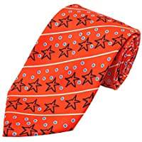 Jacob Alexander Boys' Prep Christmas Star Diagonal Stripe with Dots Regular Length Neck Tie