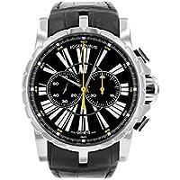 [ロジェデュブイ] 腕時計 ROGER DUBUIS DBEX0266 クロノグラフ SS/ブラックレザー ブラック文字盤 メンズ [中古品] [並行輸入品]