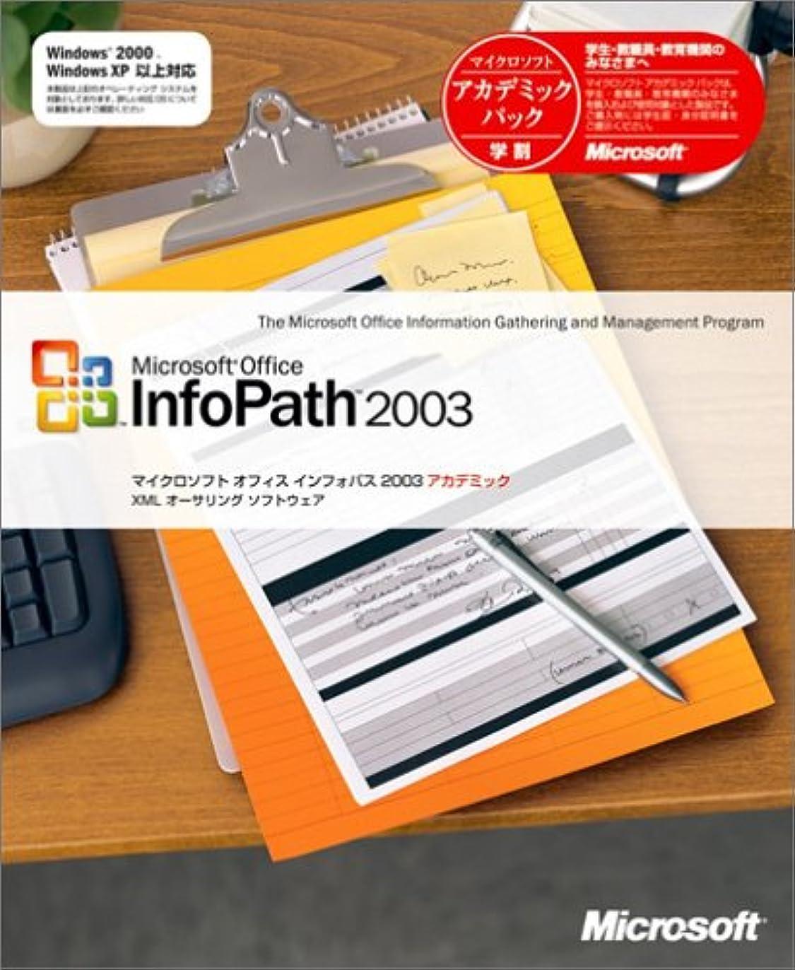 偽足音ブロックするInfoPath 2003 アカデミック版