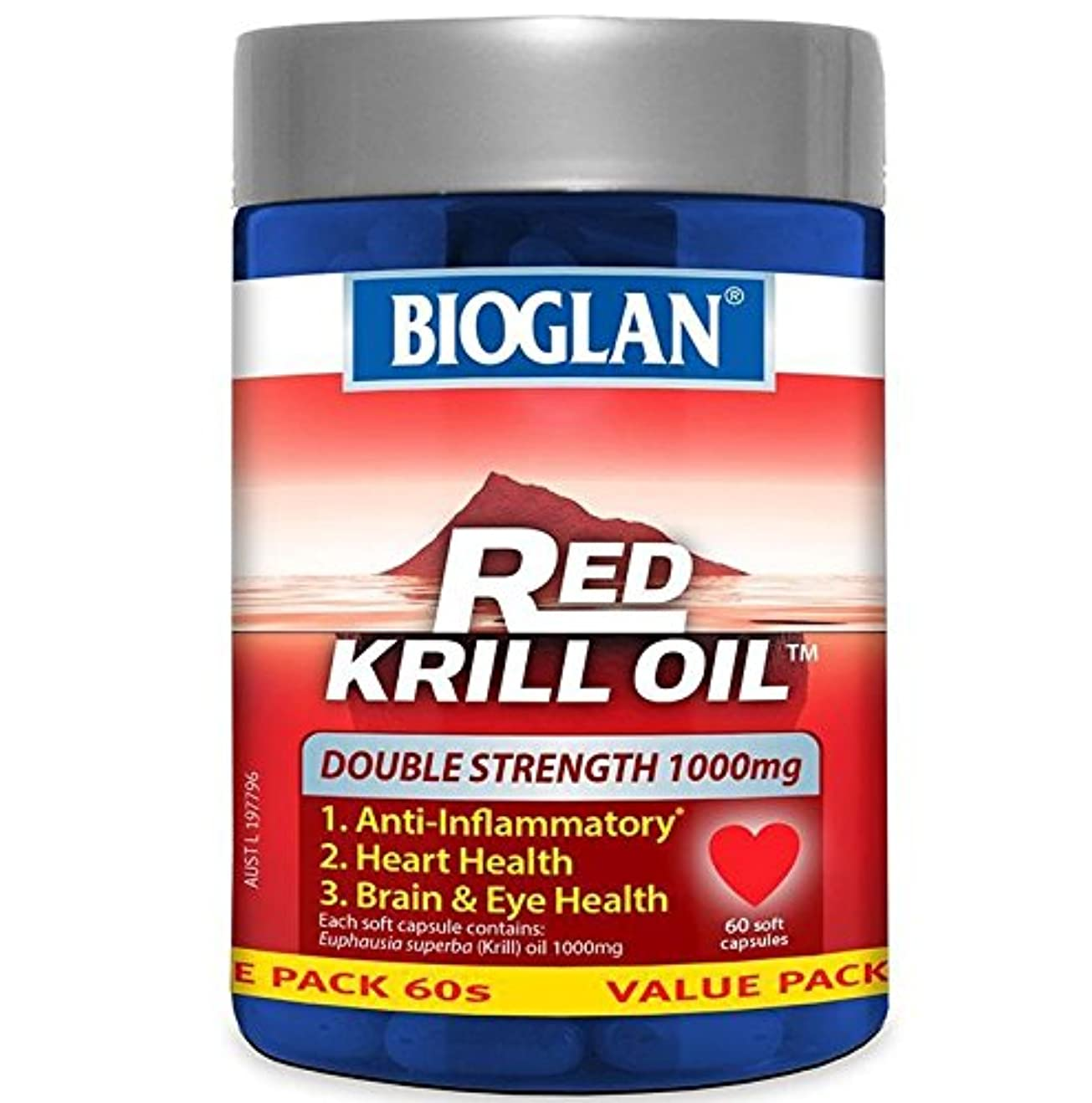透過性吐き出す集団Bioglan(バイオグラン) レッドクリルオイル 1000mg カプセル60錠【海外直送品】 [並行輸入品]