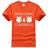 Bestong メンズ 書き込み 刷る doge ugly Tシャツ X-Large オレンジ [並行輸入品]