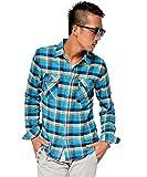 ジョーカーセレクト(JOKER Select) ネルシャツ メンズ 長袖 シャツ 長袖シャツ チェックシャツ カジュアル フランネル チェックシャツ レディース M K柄(83)