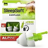 Alpine SleepSoft Sleeping Earplugs - Ultra Soft Filter for Side Sleeper - Reduce Noises & Improve Sleep – Reusable, Hygienic,