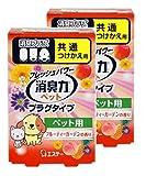 【まとめ買い】 消臭力 プラグタイプ 消臭芳香剤 つけかえ ペット用フルーティーガーデンの香り 20ml×2個